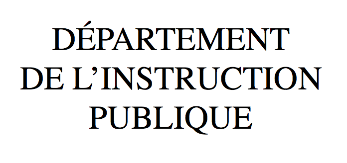 Département de l'Instruction publique